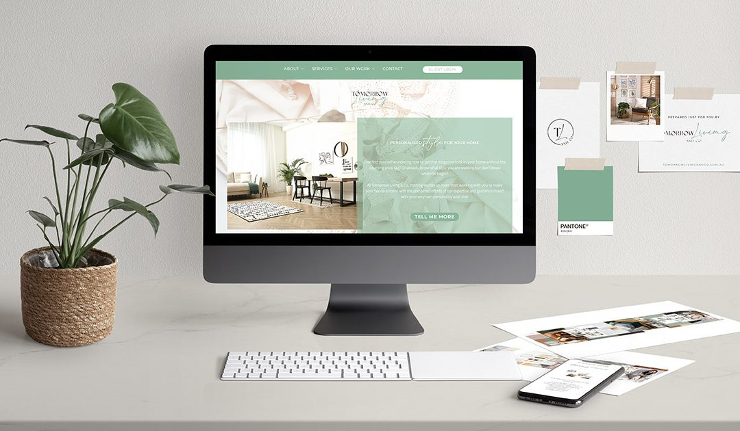 Brand And Website Design Project | Tomorrow Living and Co